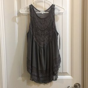 Love, fire.. lace and sheer tank